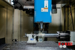Drilling on the CNC machining centre