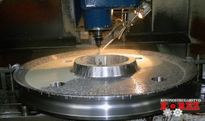 Making of a pulley on the CNC machining centre